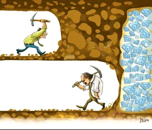Dont give up cartoon