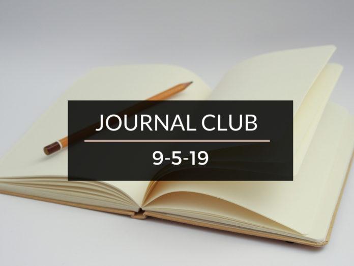 Journal Club 9-5-19
