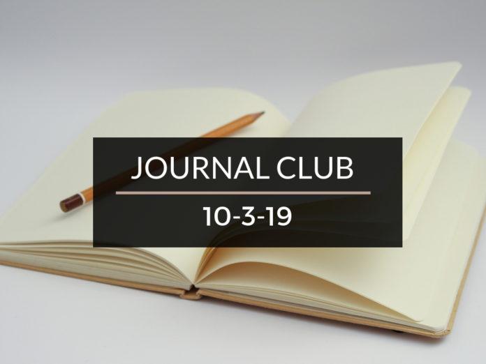 Journal Club October 3 2019