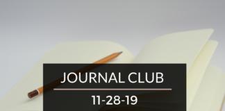 Journal Club 11/28/19