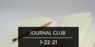 Journal Club 1-22-21